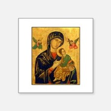 Blessed Mother of Perpetual H Sticker (Rectangular