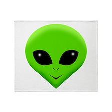 green alien.png Throw Blanket