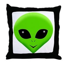 green alien.png Throw Pillow