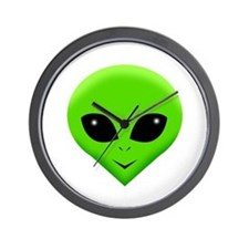 green alien.png Wall Clock