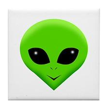green alien.png Tile Coaster