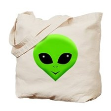 green alien.png Tote Bag