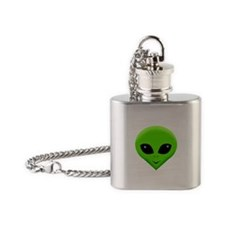 green alien.png Flask Necklace