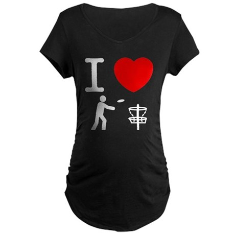 Disc Golf Maternity Dark T-Shirt