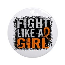 Fight Like a Girl 31.8 MS Ornament (Round)