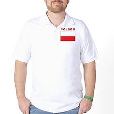 Polish Flag With Polska T-Shirt