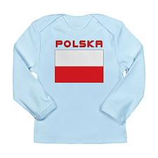 Polish Flag With Polska Long Sleeve Infant T-Shirt