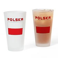 Polish Flag With Polska Drinking Glass