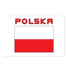 Polish Flag With Polska Postcards (Package of 8)