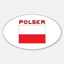 Polish Flag With Polska Decal