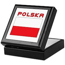 Polish Flag With Polska Keepsake Box