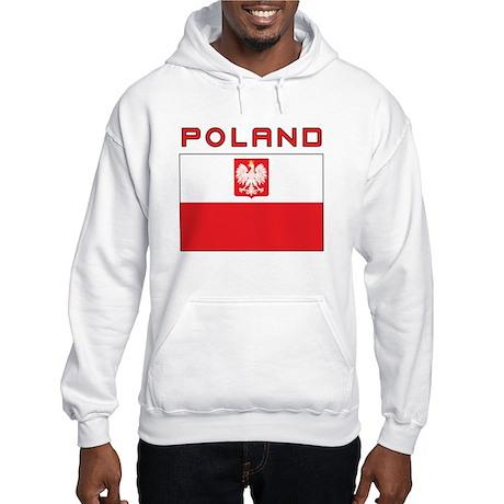 Polish Falcon Flag With Poland Hooded Sweatshirt