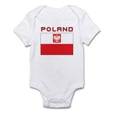Polish Falcon Flag With Poland Infant Bodysuit