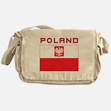 Polish Falcon Flag With Poland Messenger Bag