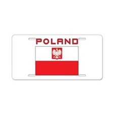 Polish Falcon Flag With Poland Aluminum License Pl