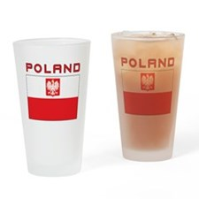 Polish Falcon Flag With Poland Drinking Glass