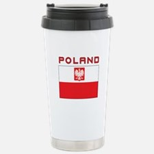 Polish Falcon Flag With Poland Travel Mug