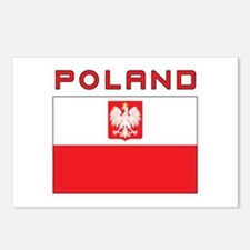 Polish Falcon Flag With Poland Postcards (Package