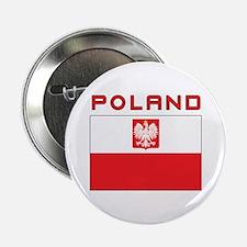 """Polish Falcon Flag With Poland 2.25"""" Button"""