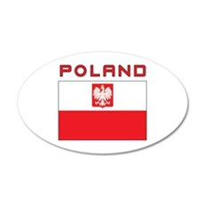 Polish Falcon Flag With Poland 20x12 Oval Wall Dec