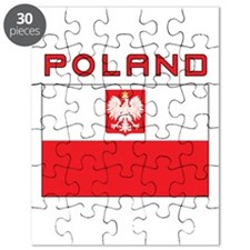 Polish Falcon Flag With Poland Puzzle