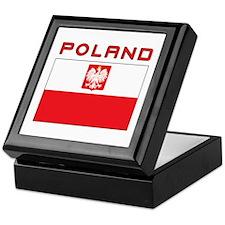 Polish Falcon Flag With Poland Keepsake Box