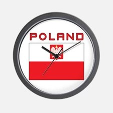 Polish Falcon Flag With Poland Wall Clock