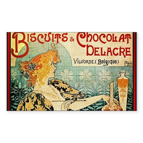 ART NOUVEAU Sticker (Rectangle)