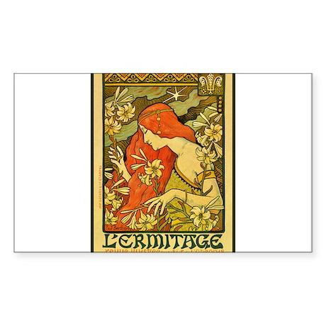 ART NOUVEAU Sticker (Rectangle)
