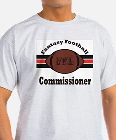 Fantasy Football Commish 2 Ash Grey T-Shirt