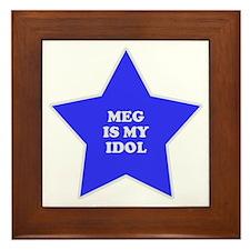 Meg Is My Idol Framed Tile