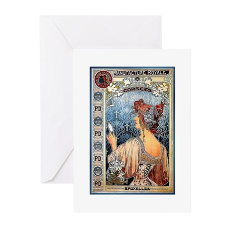 ART NOUVEAU Greeting Cards (Pk of 20)