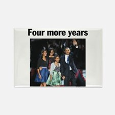 Four Mour Years: Obama 2012 Rectangle Magnet (10 p