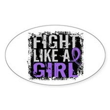 Licensed Fight Like a Girl 31.8 H L Decal