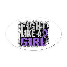 Fight Like a Girl 31.8 H Lymphoma Oval Car Magnet