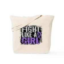 Fight Like a Girl 31.8 H Lymphoma Tote Bag