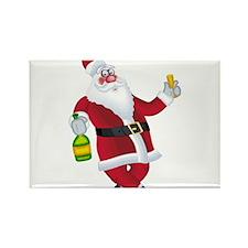 Tipsy Santa Rectangle Magnet