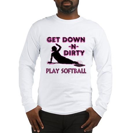 PINK - DOWN-N-DIRTY Long Sleeve T-Shirt