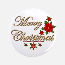 "Fancy Merry Christmas 3.5"" Button"