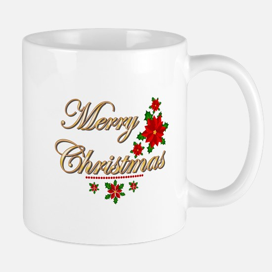 Fancy Merry Christmas Mug
