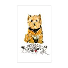 I love my Norwich Terrier Rectangle Decal
