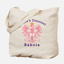 World's Greatest Babcia Red Eagle Tote Bag