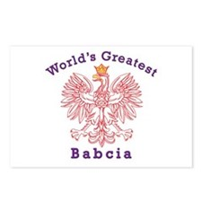 World's Greatest Babcia Red Eagle Postcards (Packa