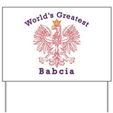 World's Greatest Babcia Red Eagle Yard Sign
