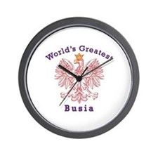 World's Greatest Busia Red Eagle Wall Clock