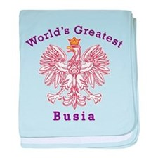 World's Greatest Busia Red Eagle baby blanket