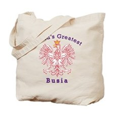 World's Greatest Busia Red Eagle Tote Bag