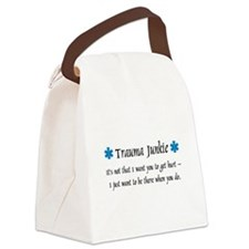 Traumajunkie.png Canvas Lunch Bag