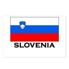 Slovenia Flag Merchandise Postcards (Package of 8)