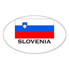 Slovenia Flag Merchandise Oval Decal